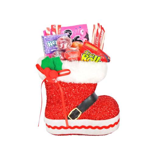 Pixy Stix + Fini Roller 20g + Nerds Grape + Pop Rocks 10.5g + Gourmet lollipop 31g in Red Boots