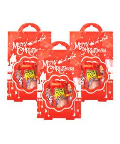Push Pop 15g + Fini Roller 20g + Ring Pop 10g in Christmas Red Acetate Bag
