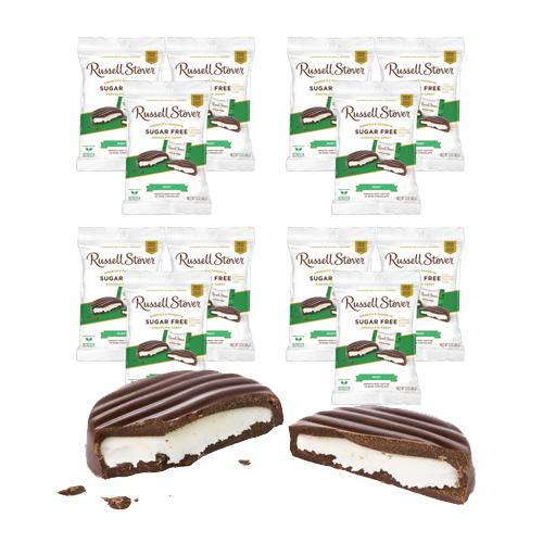Russell Stover Sugar Free Mint Patties Dark Chocolate Peg Bag 85g x 12 pcs