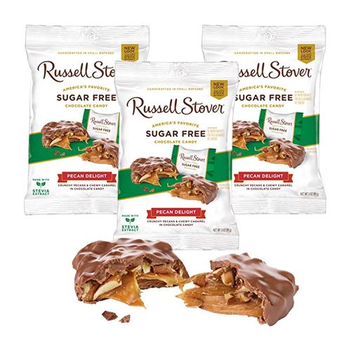Russell Stover Sugar Free Pecan Delight Peg Bag 3oz/85g x 3 pcs