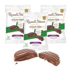 Russell Stover Sugar Free Chocolate Truffle Peg Bag 3oz/85g x 3pcs